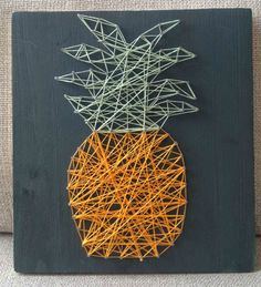 Happytime : DIY // Le tableau ananas en fil tendu