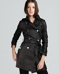 Burberry Brit Althorpe Leather Trench Coat