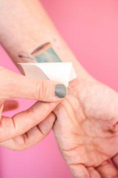 DIY Temporary Tattoos + Free Printable