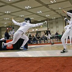 Boom!! Lucas Hsing flies across the strip during the Y14 Men's Épée team event at the 2014 Memphis NAC last weekend. #fencing #usafencing