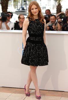 Jessica Chastain in Alexander McQueen Fall/Winter 2014-2015