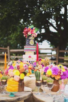 un mariage coloré par Ô Bonheur des Dames Credit Photo  MELINDA BLANCHET - A l'orée des Fées