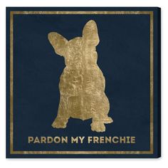 Oliver Gal Frenchie Canvas Art - 15997_12X12_CANV_XHD