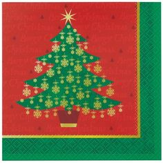 Golden Christmas Tree Luncheon Napkins 20ct -- Details can be found by clicking on the image. (This is an affiliate link)