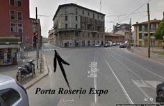 Accesso alla porta Roserio di Expo (che non è in p.za Roserio!)