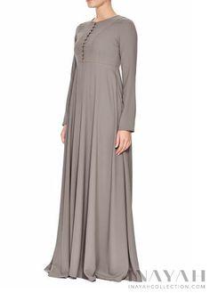 Soft Ash Abaya | INAYAH www.inayahcollection.com #inayah#modestfashion#hijabfashion#abaya