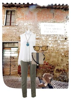 """""""The Streets of Umbria"""" by marissacollections on Polyvore featuring Brunello Cucinelli, Federica Rettore, Oliver Peoples, Fendi and plus size clothing"""