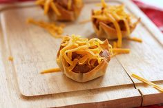 Kid Friendly Snacks by Chef PickyKId: Bean and Cheese Wontons