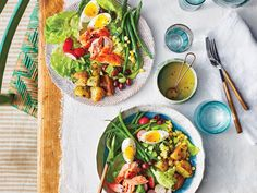A big main-dish salad is exactly how we like to eat when temperatures start to climb. This summery take on the classic Niçoise is a riot ...