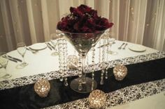 centerpiece with jewels