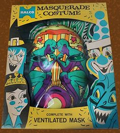 "Rare and Pricey 1960s ""Psychedelic"" Halloween Costume by Halco."