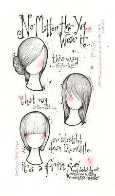 #Hair cut #illustrations by Andrea Joseph