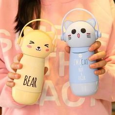 Cute cartoon cup sold by Fashion Kawaii [Japan & Korea]. Shop more products from Fashion Kawaii [Japan & Korea] on Storenvy, the home of independent small businesses all over the world. Kawaii Cat, Kawaii Shop, Pink Cat, Blue Cats, Chi Le Chat, Bear Drink, Cute Water Bottles, Kawaii Accessories, Cute Cups