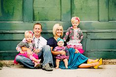 Great colorful outfits for family pics