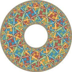 "M.C.Escher's ""Circle Limit III"" by Vladimir Bulatov via Flickr"