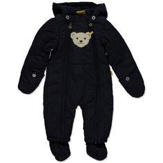 Steiff Baby Schneeanzug evening blue #Kinderwinteroverall #Kinder  #Kinderskioverall #Kinderskijacke #dunkelblau #nachtblau #Steiff #warm #kuschelig #Kinder #Junge