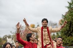Baraat for Hindu Wedding at the Imperia in Somerset New Jersey conducted by DJ Raj Minocha from DJ Sunny Entertainment - Manisha and Anand - mixed wedding - South Indian Bride and North Indian Groom.  Best Wedding Photographer PhotosMadeEz. Award Winning Photographer Mou Mukherjee - #reddy2mohan