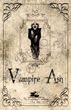 Vampire-Ash-Label (a_granger) Tags: autumn halloween book magick label magic spell haunted labels apothecary cauldron charms potions spells potion cackling halloweendecorations curses spellbook hexes apothecarylabels potionlabels