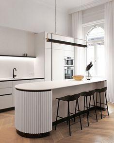 Interior Desing, Home Interior, Interior Design Kitchen, Interior Architecture, Interior Lighting, Art Deco Kitchen, Home Decor Kitchen, Home Kitchens, Cocinas Kitchen