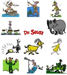 DR SEUSS GRINCH EMBROIDERY DESIGNS 4X4 PACK COMIC NEWSPAPER STRIP CARTOON animated television series television show DISNEY CHARACTER CARTOONS ANIMATED CHARACTERS DISNEY machine machine free download pes baby applique hand designs software patterNs emai