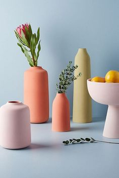 Matte Abstract Vases From Anthropologieu0027s Spring Collection Home Decor  Vases, Diy Home Decor, Plant