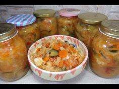 Reteta Salata vanatoreasca pentru iarna - YouTube Canning Pickles, Cooking, Sauces, Youtube, Food, Preserves, Salads, Cooking Recipes, Kochen