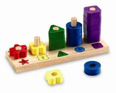 Amazon.com: Learning Resources Woodshop Toys Rainbow Numbers: Toys & Games
