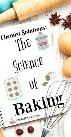Chemist Solutions The Science of Baking on is part of Chemist Solutions The Science Of Baking On Chemistry Cachet - The science of baking is very intricate and precise Stop by and see some fun facts, tips, and tricks to help you bake better! Baking Science, Food Science, Science Experiments, The Science Of Cooking, Science Chemistry, Physical Science, Science Lessons, Earth Science, Science Activities