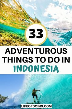 Want to experience incredible adventures in Indonesia? This post has 30+ adventures from snorkeling to hiking to add to your Indonesia bucket list. Travel Destinations, Travel Tips, Travel Goals, Time Travel, Travel Ideas, Beautiful Places To Visit, Cool Places To Visit, Adventurous Things To Do, Japanese Travel