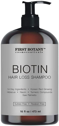 Hair Regrowth and Anti Hair Loss Shampoo 16 fl oz, with 14 DHT blockers- Daily Hydrating, Detoxifying, Volumizing Shampoo For Men and Women - Walmart.com