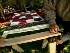DIY quilt frame
