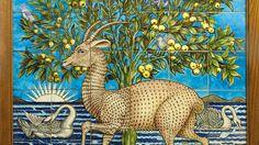 William de Morgan's deer panel