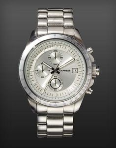 Chronograph Bracelet Watch - Silver #ExpressHoliday