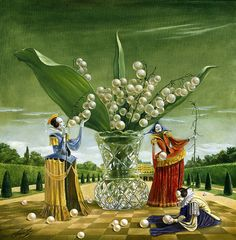 "# 4   Bouquet of Metaphors 30"" x 30"", oil on canvas"