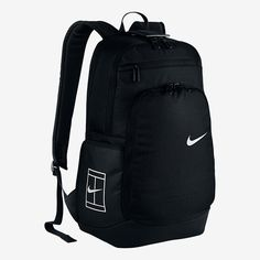 Get your NIKE Tennis Court Tech Backpack today at Tennis Express! Featuring comfortable straps and roomy, specialized storage for your racquet and important items. Tennis Bags, Tennis Clothes, Black Backpack, Backpack Bags, Mochila Nike, Backpacking Hammock, Tennis Store, Lightweight Backpack, Nike Tennis