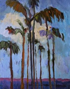 Landscape Artists International: Abstract Palms, Palm Tree Paintings by Arizona Artist Amy Whitehouse