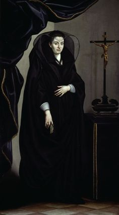 Portrait of a Noblewoman Dressed in Mourning, Italian, circa 1600.