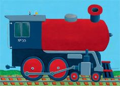 Rosenberry Rooms has everything imaginable for your child's room! Share the news and get $20 Off  your purchase! (*Minimum purchase required.) Train Engine Canvas Wall Art #rosenberryrooms