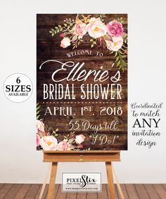 Bridal Shower Welcome Poster Bridal Shower Sign Bridal