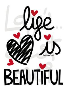 life is beautiful Print Design, Graphic Design, Good Attitude, Positive Messages, Abstract Images, How To Better Yourself, Life Is Beautiful, Life Quotes, Monday Quotes