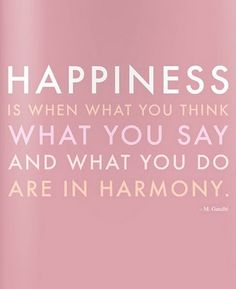 Harmony = happiness