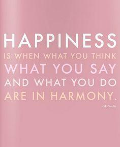 Harmony = happiness