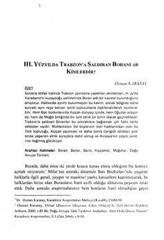 """(25) """"3. yy'da Trabzon'a Saldıran Boranlar Kimlerdir?"""", Karadeniz İncelemeleri, Sayı 1 (Güz 2006), s.9-18.   Osman Karatay - Academia.edu"""