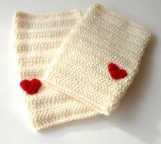 ivory knitting gloves ,women fingerless gloves ,knit mittens ,cream heart gloves , gift ideas on Etsy, $25.00