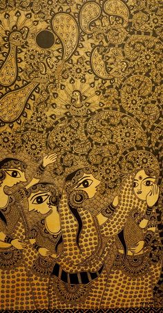 amazing madhubani painting by Bharti Dayal