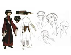 Mai costume and character design. I did not know that she had so many knives.