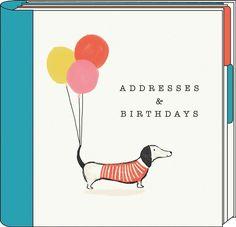 Dachshund Address & Birthday Book