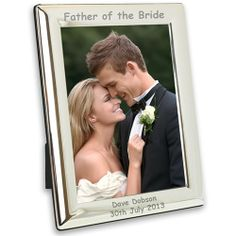 Personalised Father of the Bride Silver Plated Frame -7x5  from Personalised Gifts Shop - ONLY £17.99