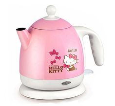 Hello Kitty / Electric Kettle Stainless Steel Tea Kettle Base Plug - Curated by Us. For The Cute Souls Hello Kitty Kitchen, Hello Kitty House, Pink Hello Kitty, Hello Kitty Items, Commercial Cleaners, Plastic Ware, Hello Kitty Collection, Cat Gifts, Sanrio