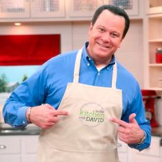 They're here! Brand new In the Kitchen with David aprons for the foodie on your list! @David Venable QVC #GiftIdeas